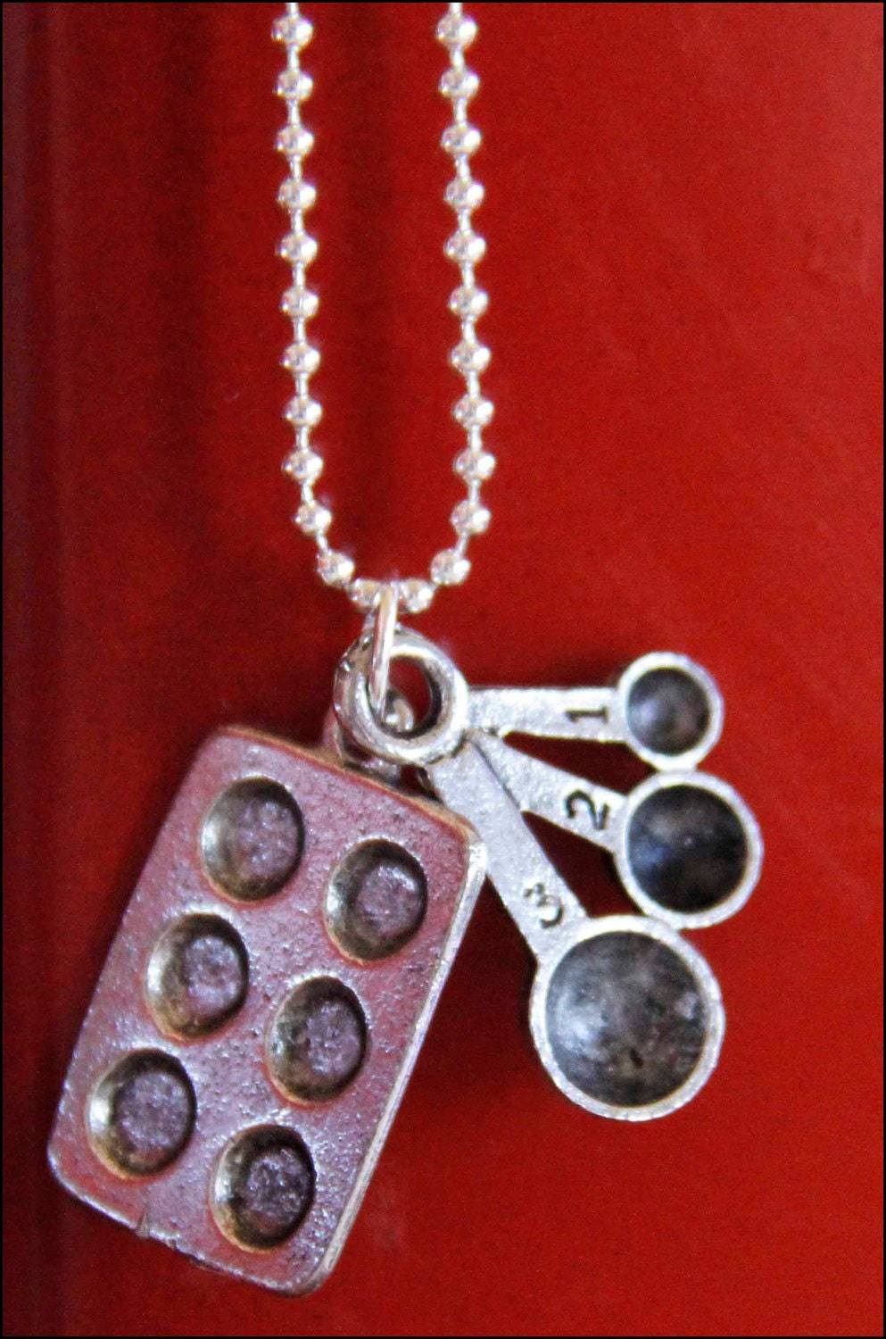 Charm Pendant - Muffin Tin and Spoons