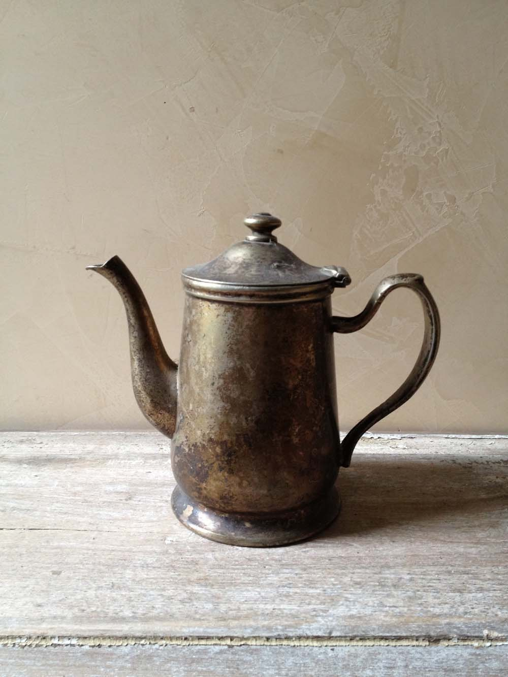 Vintage Hotel Silverplate Tea Pot - PatinaPosh