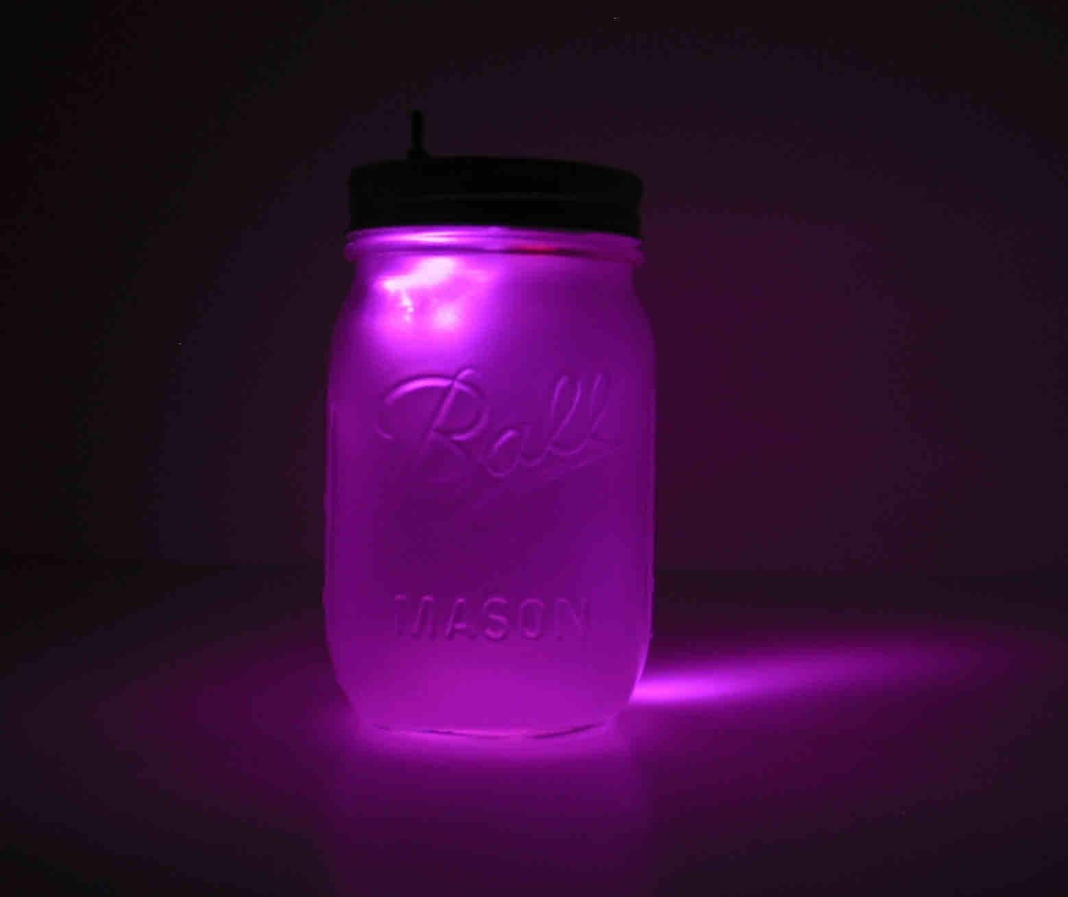 Lavender Mason Jar Night Light By Geekgear On Etsy