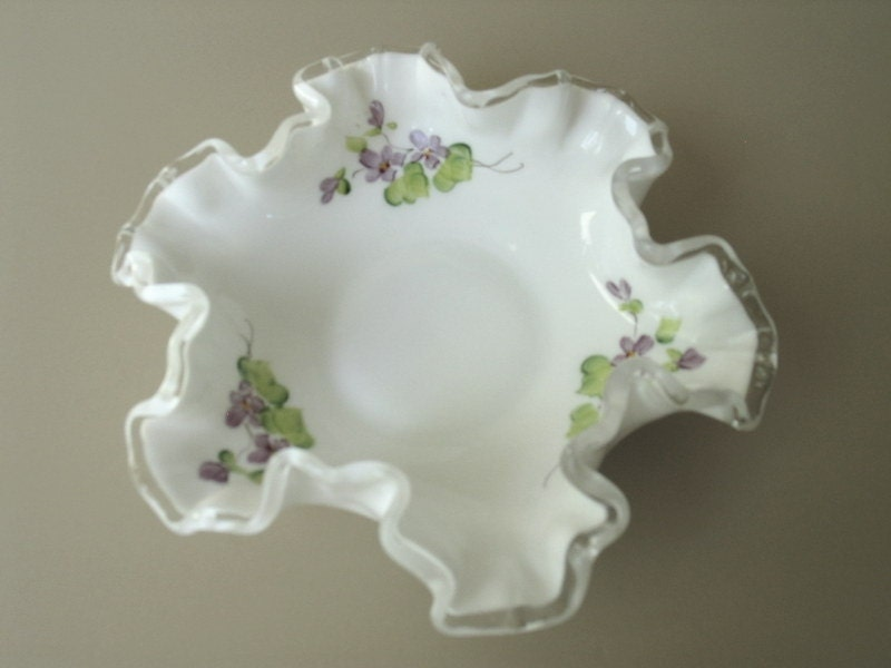 Process Of Painted Vintage Milk Glass