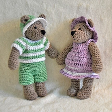 PDF Crochet Pattern -Tilda Bear - Outfits nr 1