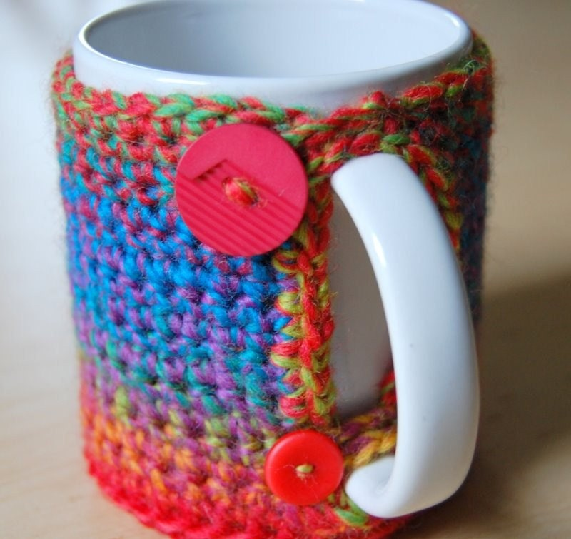 Grab Your Mug Cozy In Rainbow