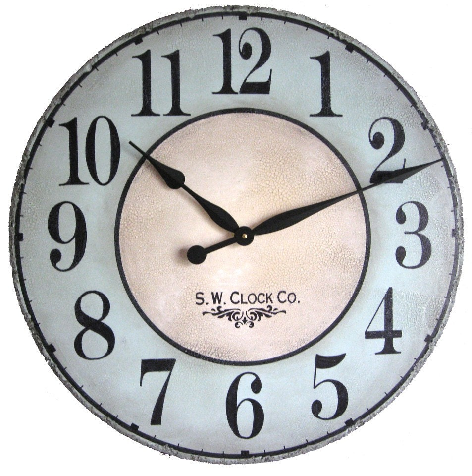 24 Inch North Haven Large Wall Clock Antique Style By
