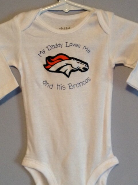 NFL Denver Broncos Shirt for Baby Girls and by hollieshobbies1