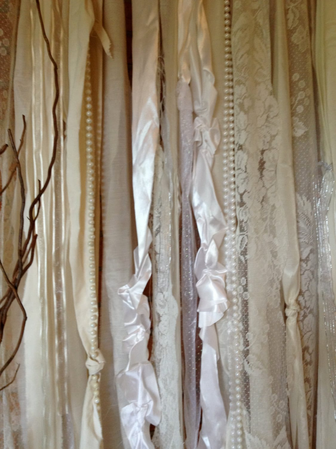 Fabric Garland 10ft x 10ft Wedding Backdrop by ohMYcharley