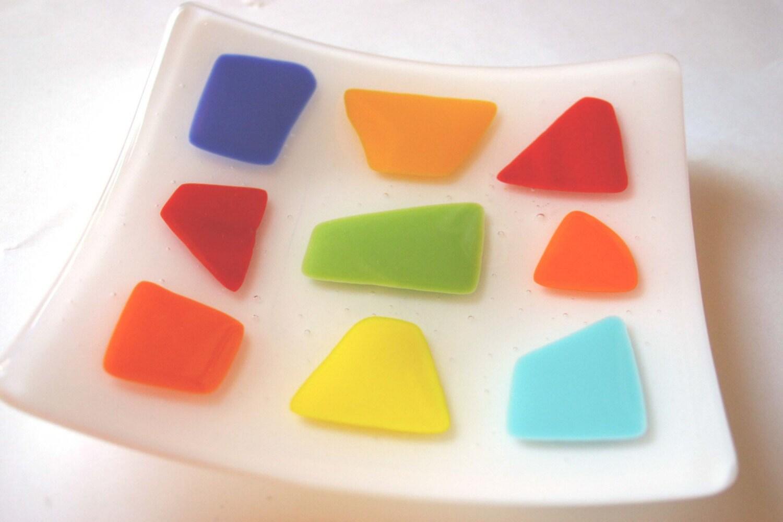 Pate de Fruits Fused Glass Plates