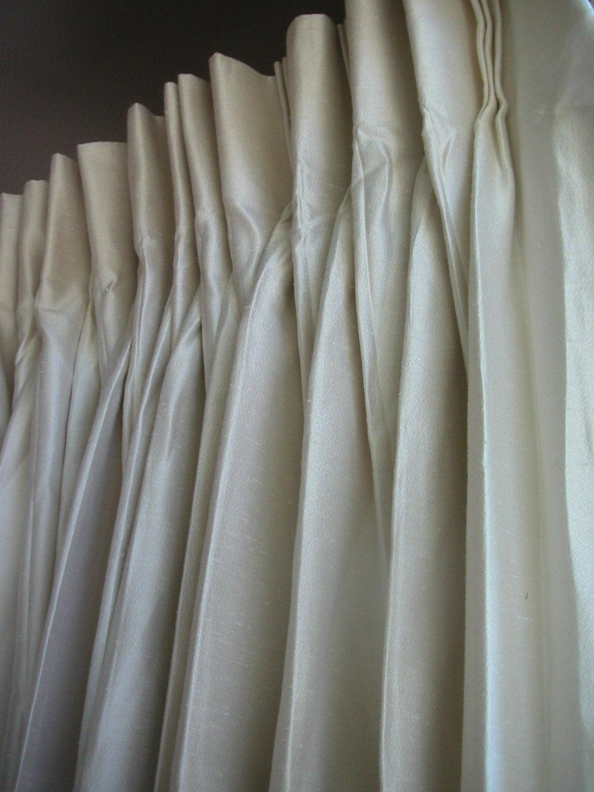 Vintage Cream Colored Curtains By Calaveras On Etsy