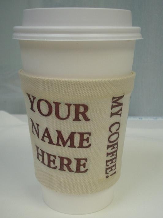 FREE WORLDWIDE SHIPPING Customized Java Jacket with Your Name and Your Coffee Order
