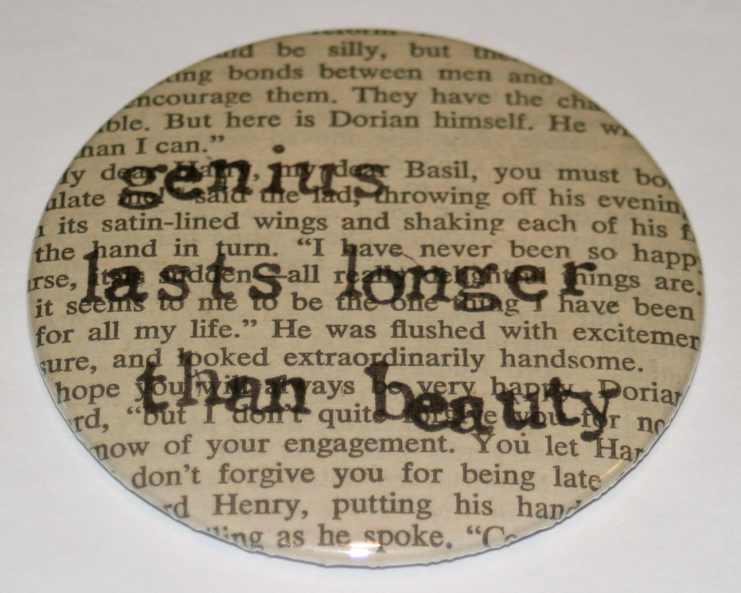 Literary Quote Pocket Mirror