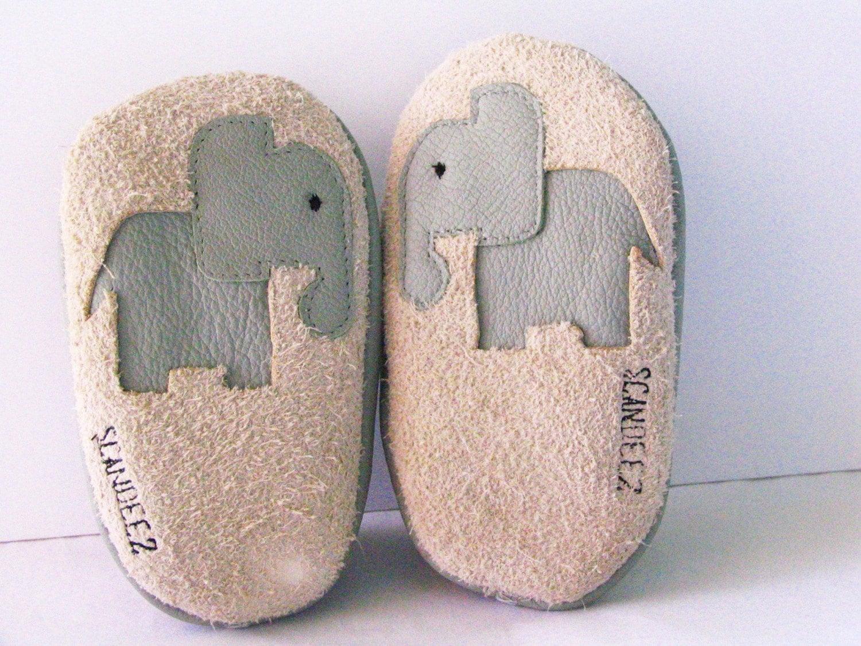 Baby Leather Elephant Moks Sz 12-18M