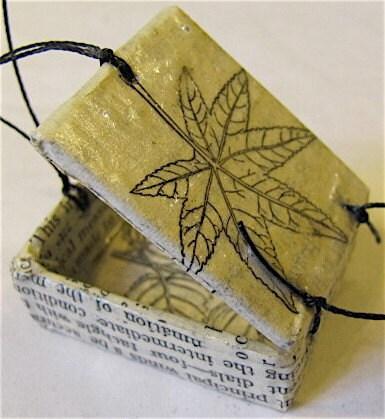 Recycled Handmade Itsy Bitsy Box.