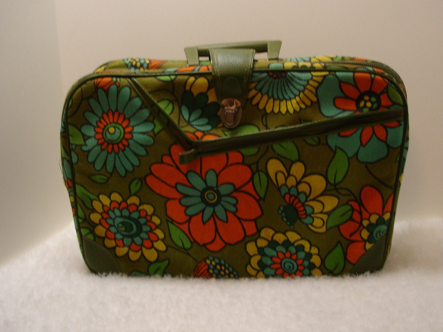 70's Flower Suitcase