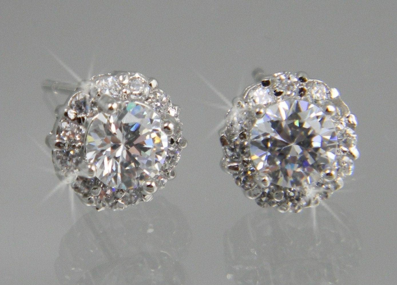 stud earrings bridal earrings wedding by