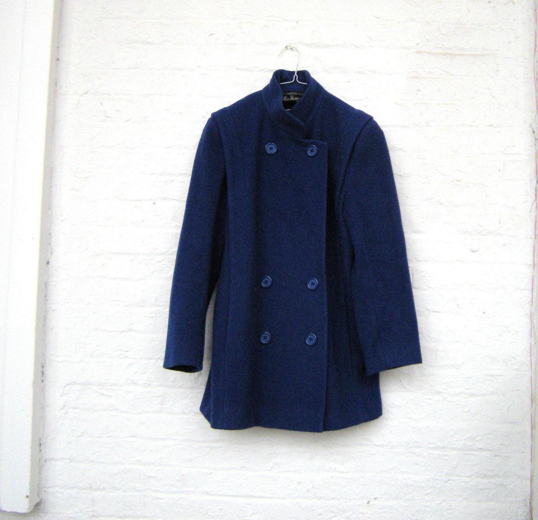 vintage blue wool peacoat