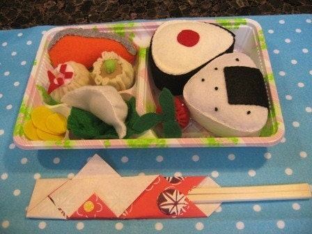 Felt Play Food Bento Box Lunch