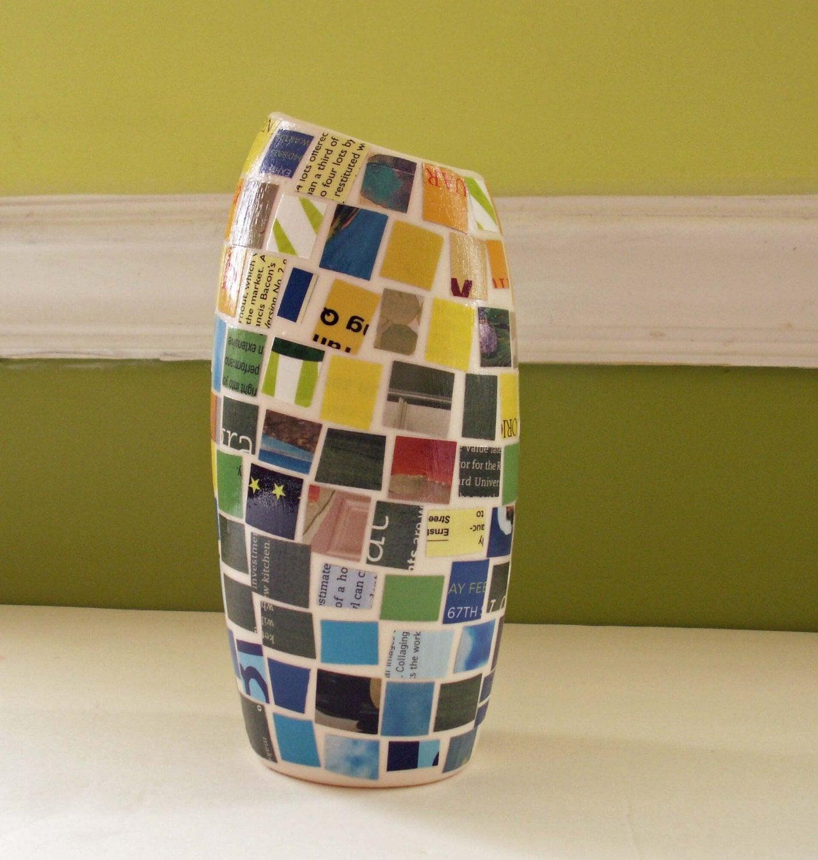 Мозаика керамическая ваза - Blue Зеленых