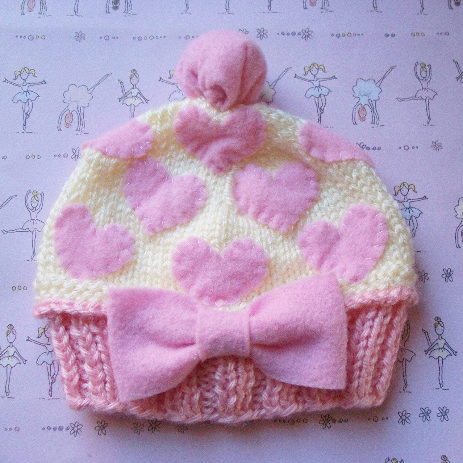 DREAM CUPCAKE HAT Newborn Size-Made to order only