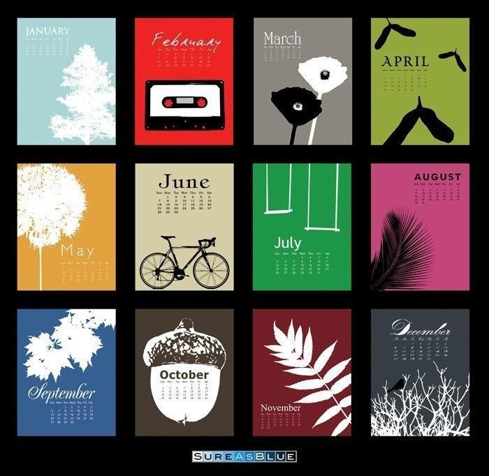 2009 Postcards Desk Calendar Refill - Objectification II