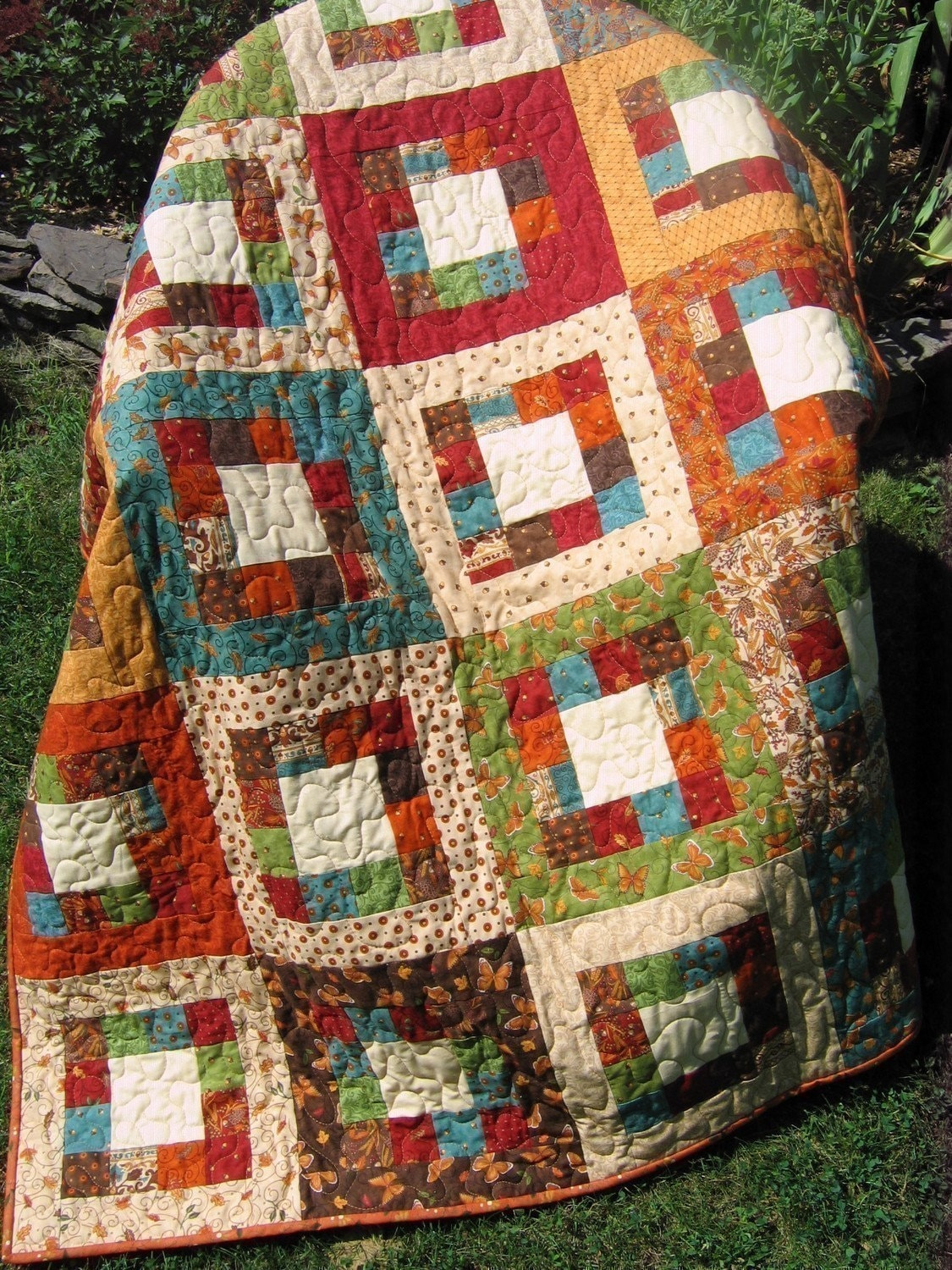 Quilting Patterns On A Roll : Market Square QUILT PATTERN.... Easy...one JELLY ROLL by sweetjane