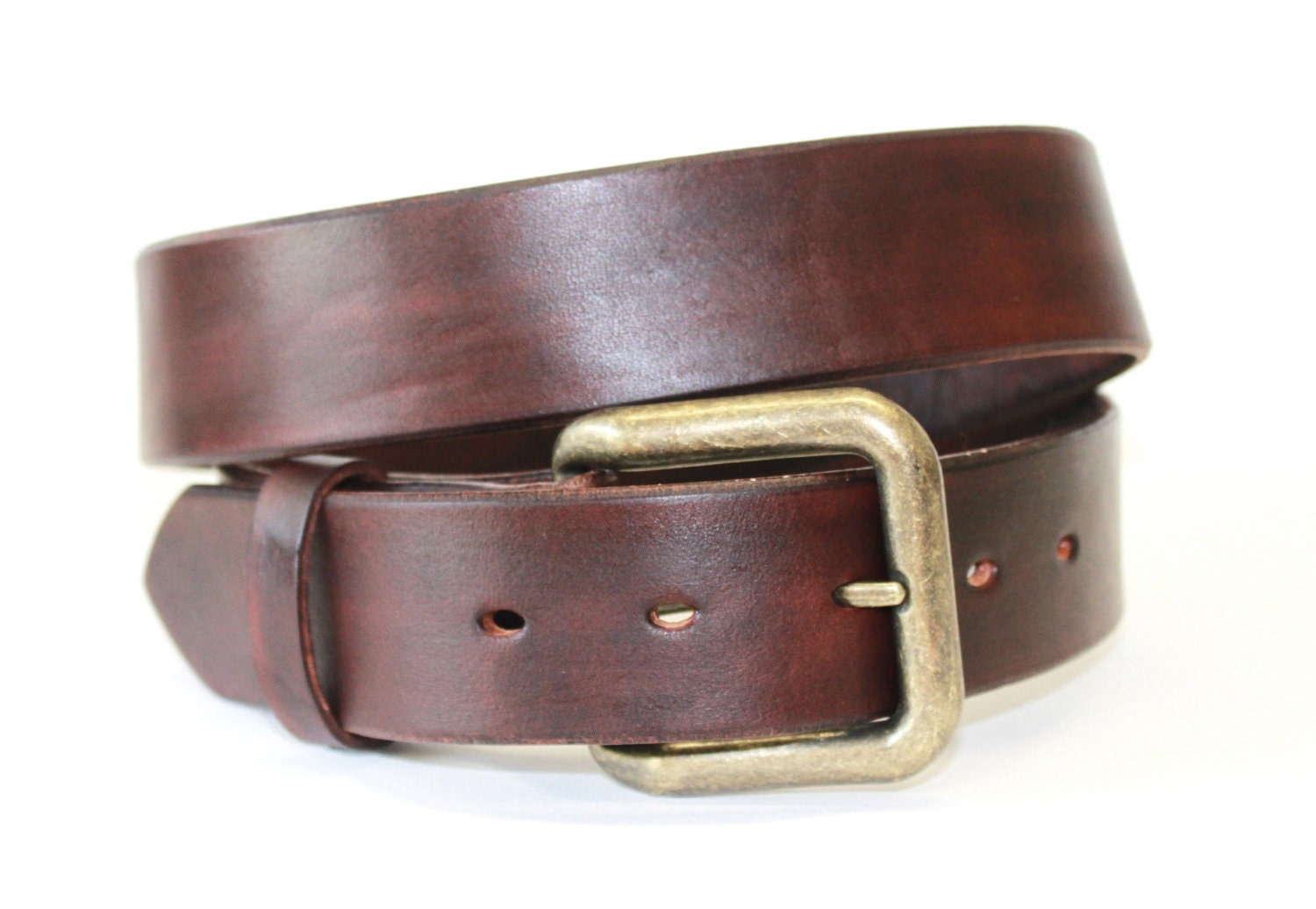 mahogany brown leather belt handcrafted s by