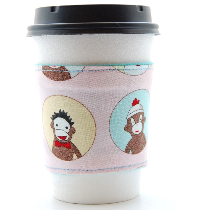 Eco Coffee Sleeve - Sock Monkeys