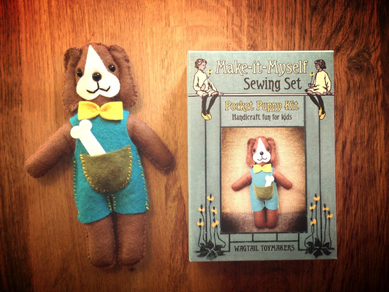 Make it Myself Sewing Set Pocket Puppy Kit. Craft activity for children.