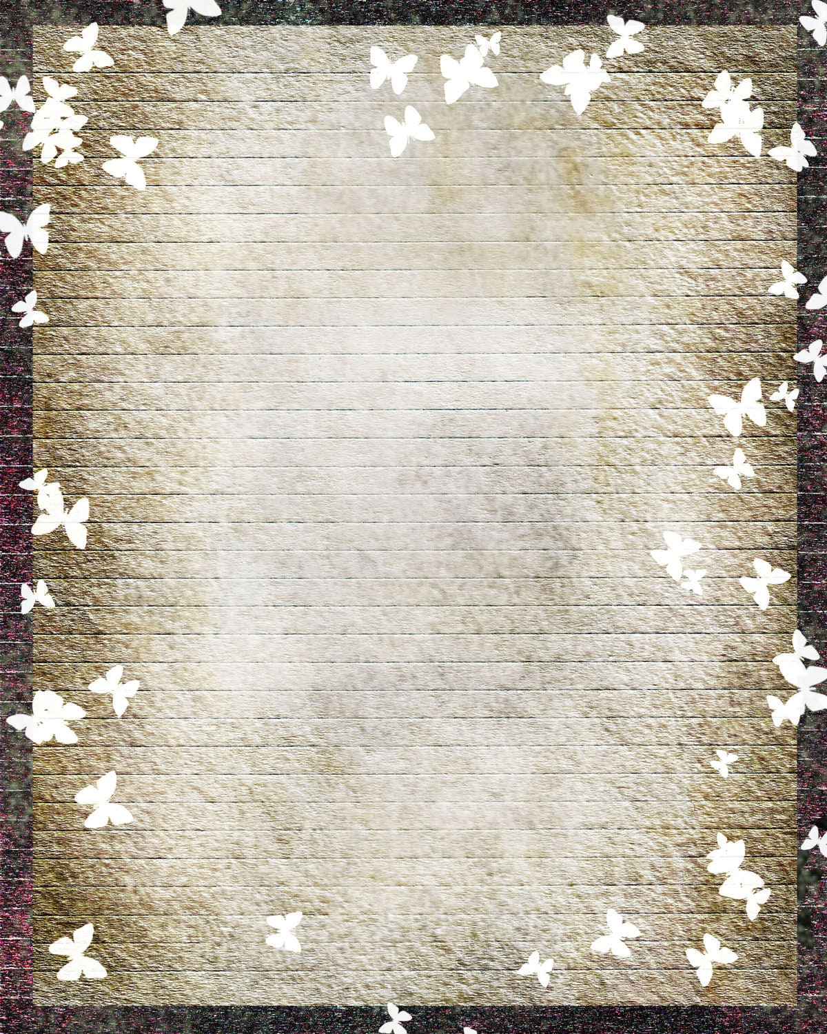 Printable Journal Page,Butterfly Digital Art Stationary, 8 x 10 JPG ...