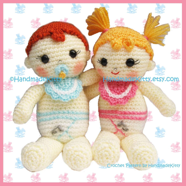 Amigurumi Crochet Patterns Baby : HandmadeKitty: Baby Boy and Baby Girl Amigurumi PDF ...