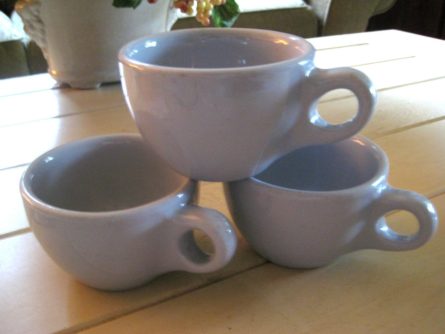 Antique Diner Mugs Made By Buffalo China Set of 3