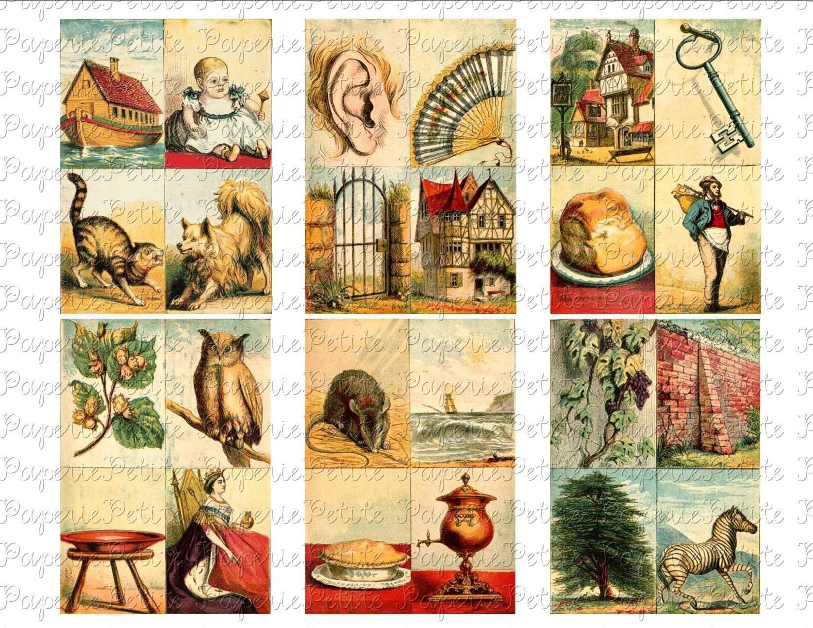 Alphabet cards vintage