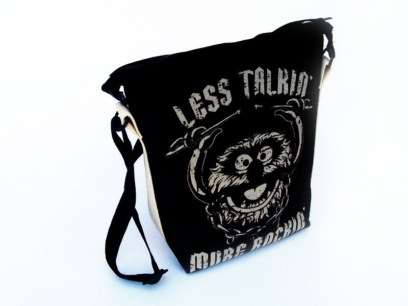 Muppets Animal Bag - Upcycled Less Talkin More Rockin - urbangirlscoutart