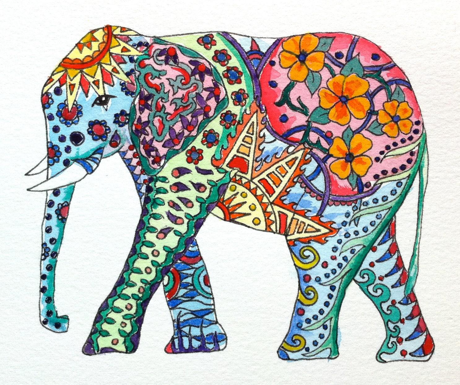 Original Watercolor El...