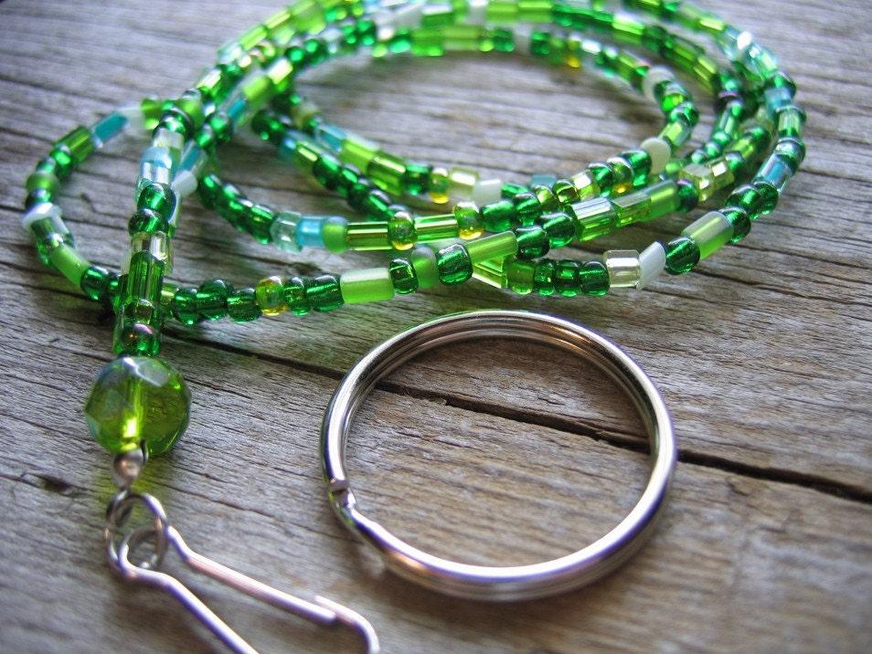 green lanyard