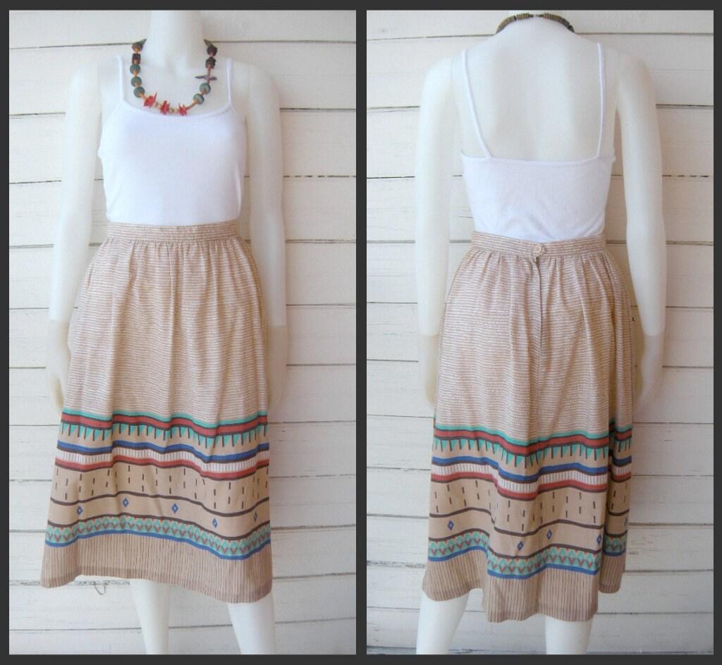 Vintage 70s Amazing AZTEC Skirt