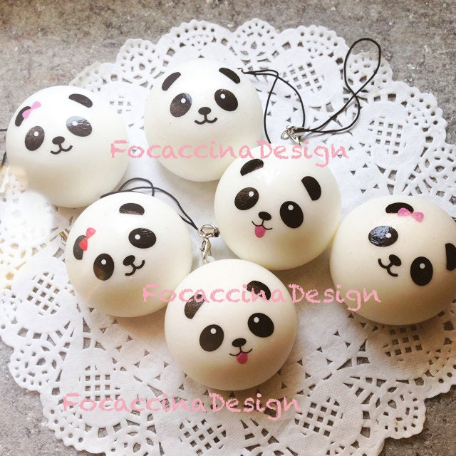 4 cm Kawaii squishy mini Panda bun - super soft