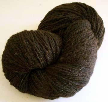 Deep Brown Handspun Yarn 235 yd.