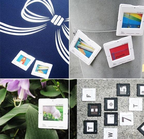 Slide Photo frame sticker set -black