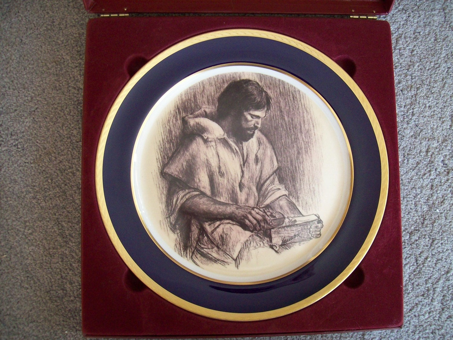 The Carpenter by Frances Hook, Jesus Christ Collectors Plate, Religious Easter gift