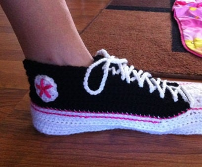 Adult Crochet Converse Extended Sizes temporary by ...