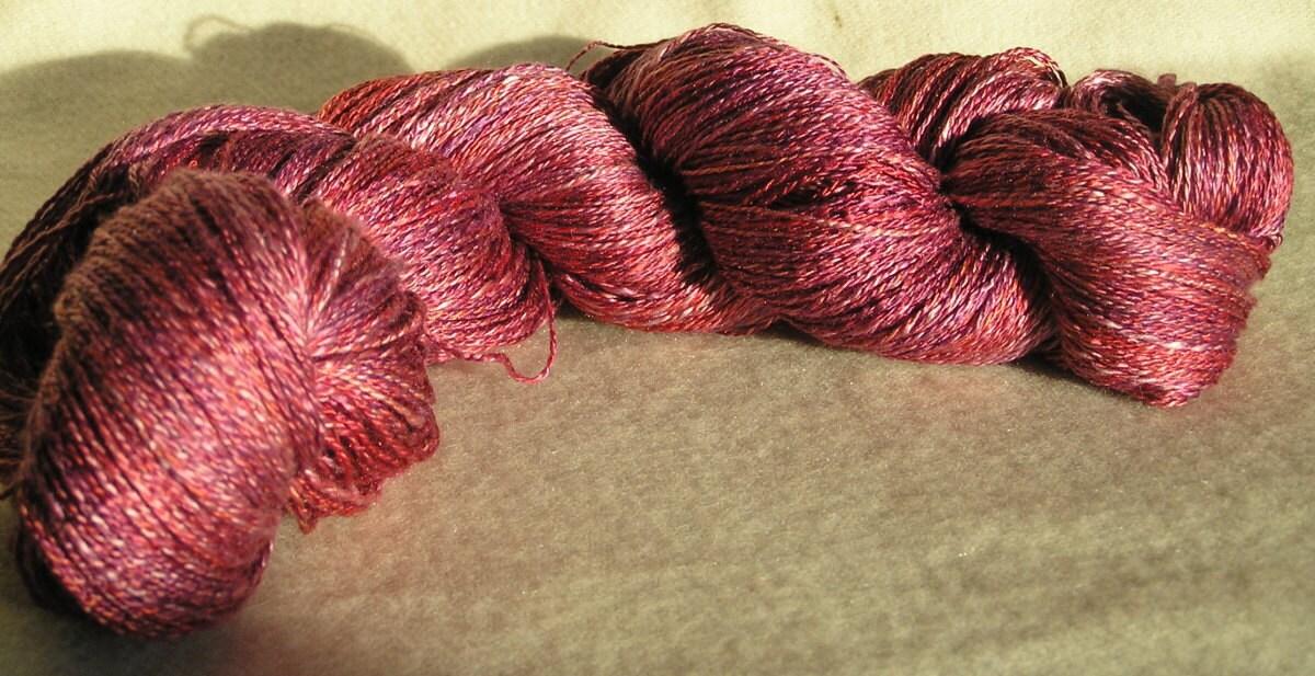 77g 2.7oz two ply laceweight handspun silk yarn - woolforbrains