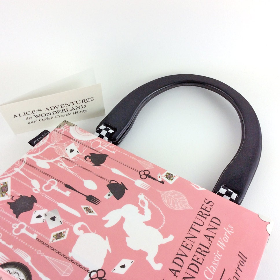 Alice in Wonderland Handbag Lewis Carroll Alice in Wonderland purse Gift for a bridesmaid Alice in Wonderland bag Off with her head!