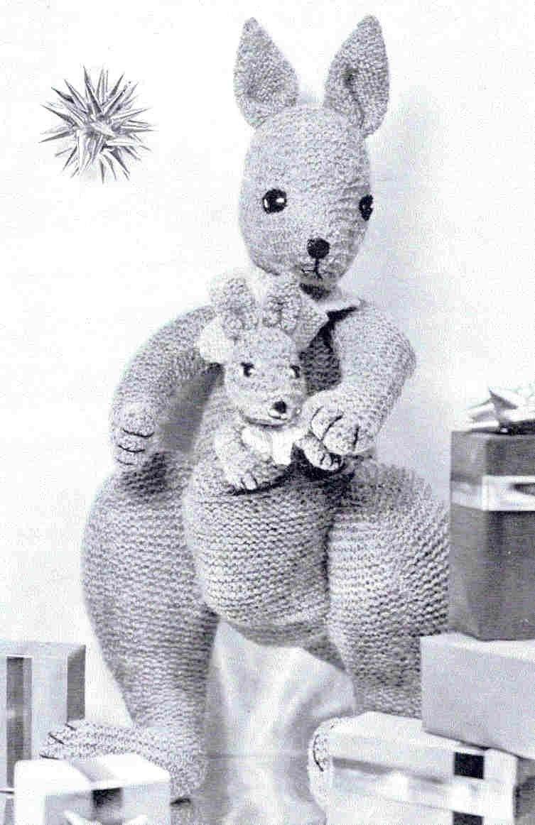 Baby Kangaroo Knitting Pattern : Popular items for toy kangaroo on Etsy