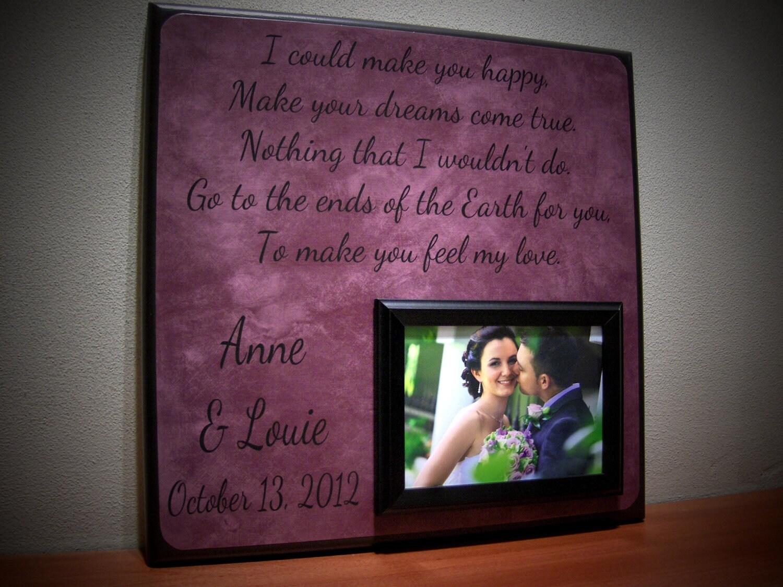 First dance wedding song frame anniversary
