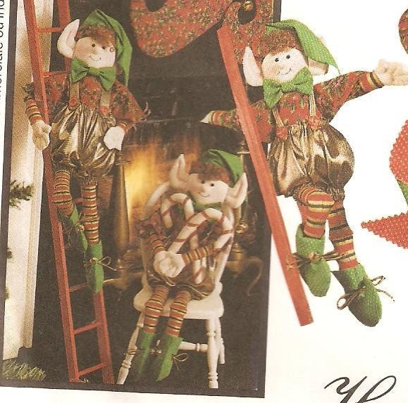 Elf Dolls, Decorations, Stocking and Ornaments Sewing Pattern ...