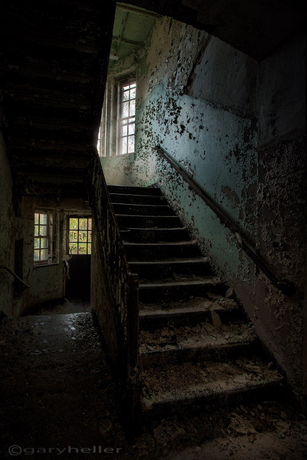 Stairwell in Abandoned Asylum Building 138 by ...