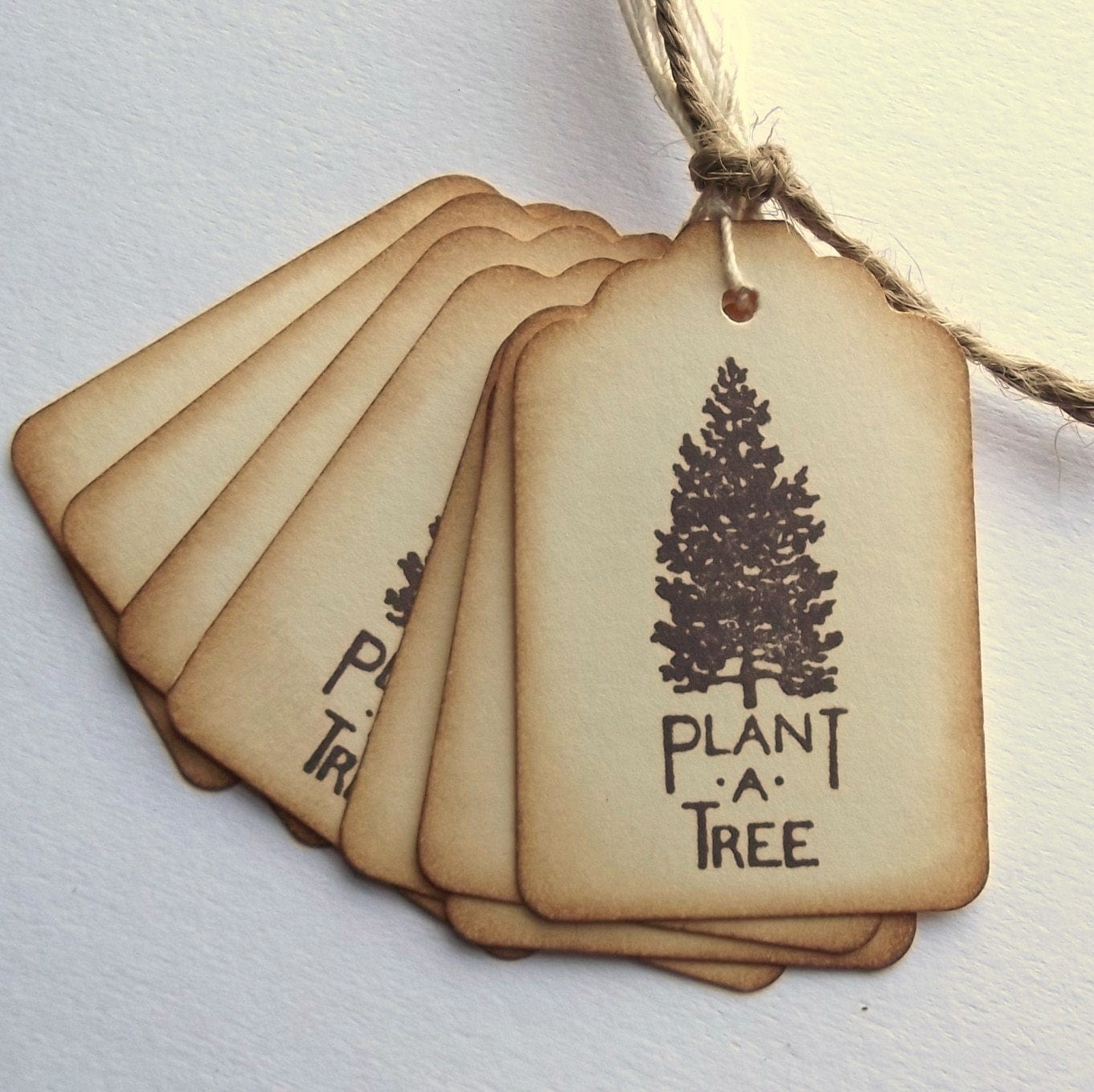 Plant a Tree Hang Tags - Vintage Inspired