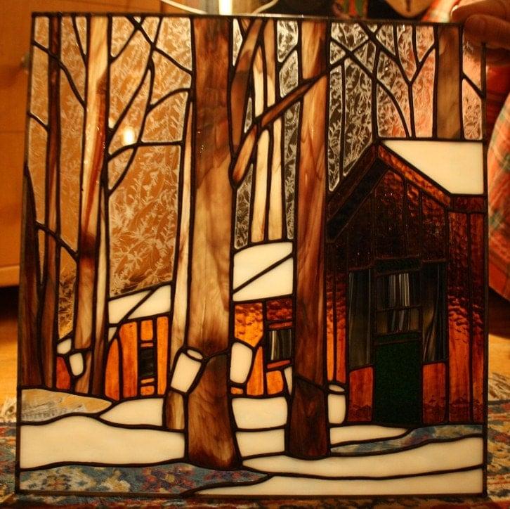 Sugar Shack Stained Glass Panel - Custom