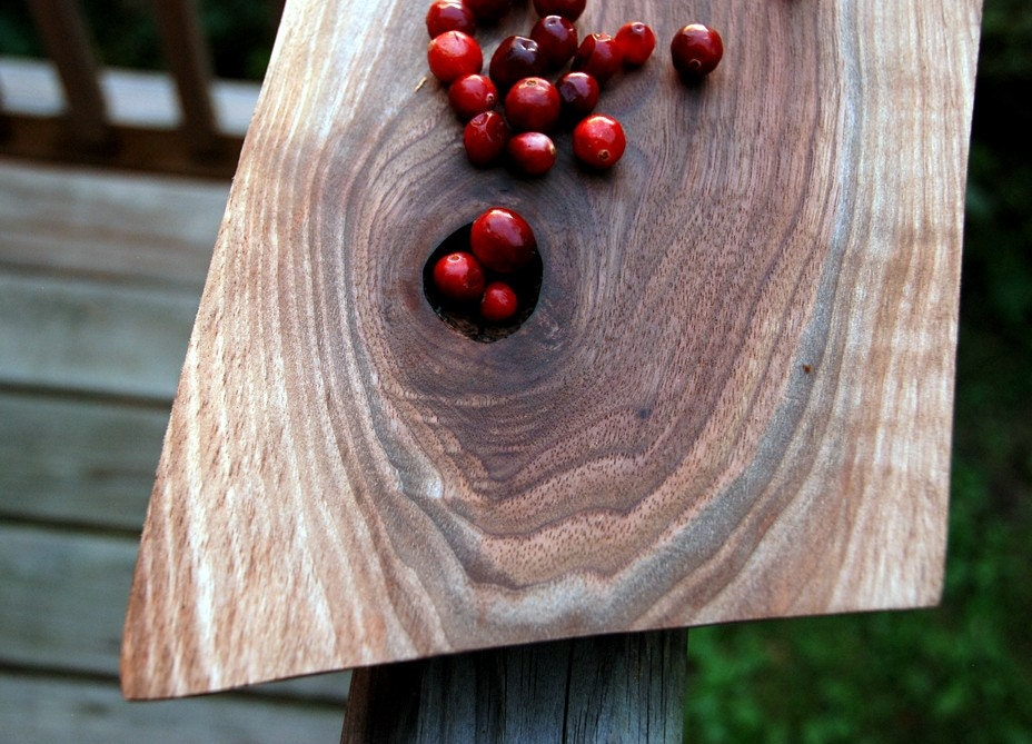 Rustic Thanksgiving Cutting Board - Serving Platter - Black Walnut, Sustainable Harvest