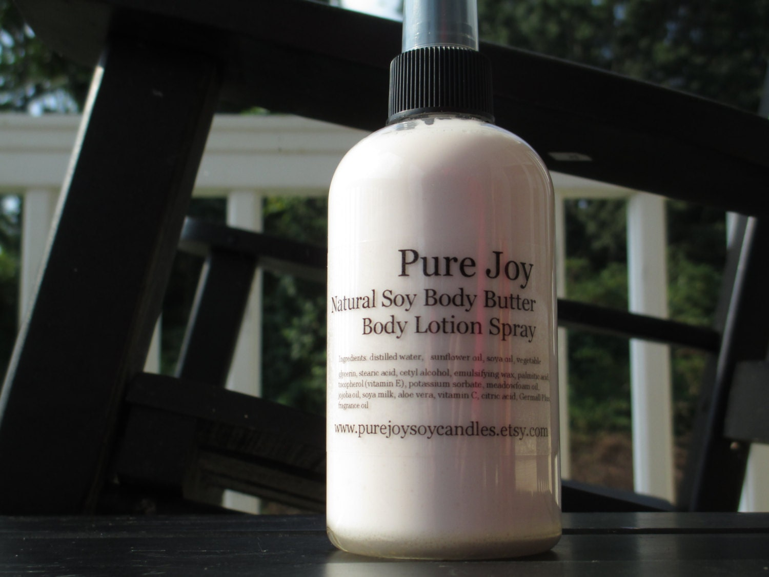 Natural Soy Body Butter Lotion Spray Premium Scented - PureJoySoyCandles