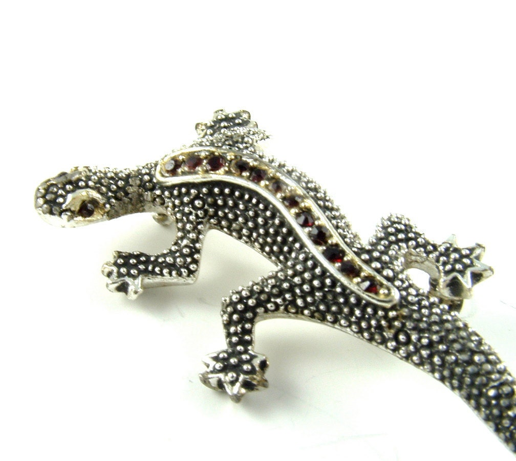 signed lizard brooch designer vintage jewelry emmons by